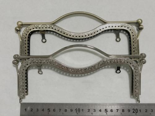20.5cm Elegant Vintage Metal Purse Frame DIY Women Handbag Frame 2pcs/lot Handle And Buckle In One