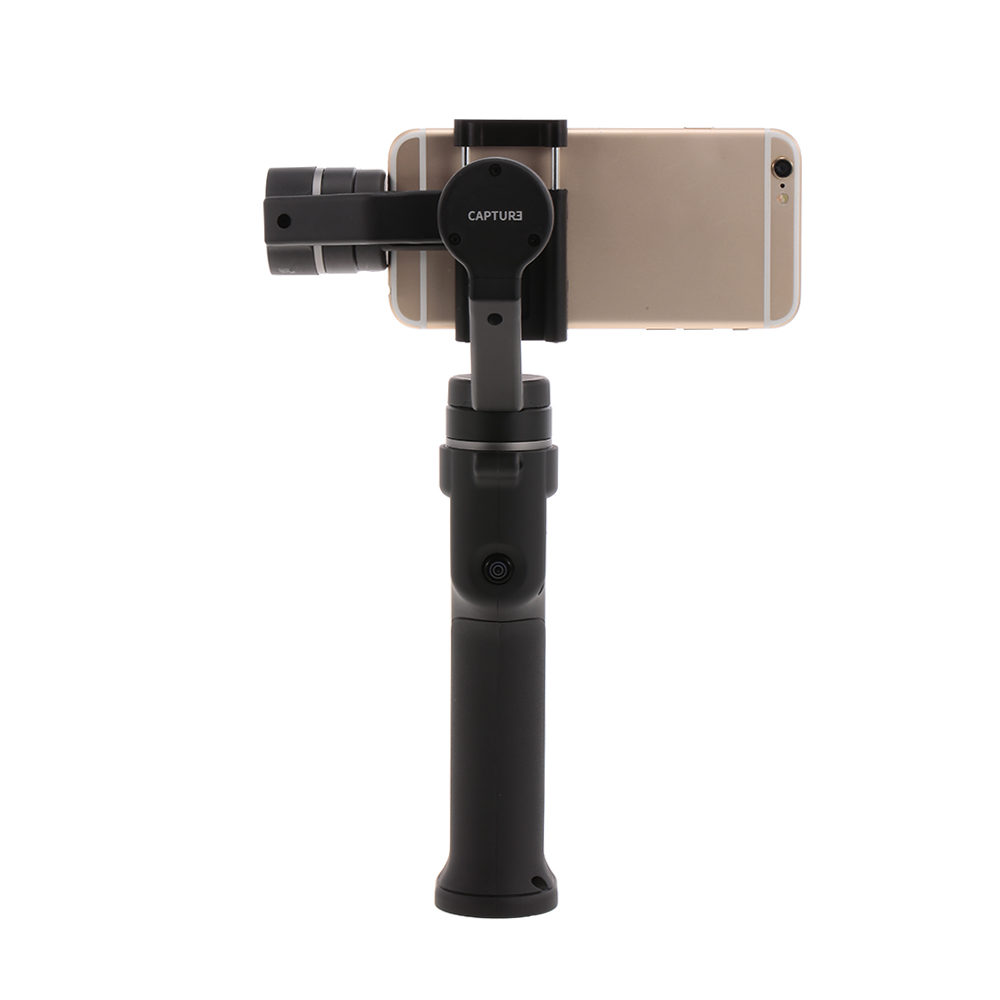 Capture 3-Axis Handheld Brushless Gimbal Stabilizer for iPhone Samsung Xiaomi Smart Phone GoPro Sports Camera storm32 fpv 3 axis brushless gimbal gopro camera stabilizer with motors