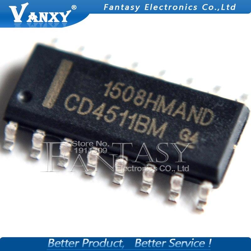 10PCS CD4511BM SOP16 CD4511BM96 SOP CD4511 SOP-16 SMD New And Original IC