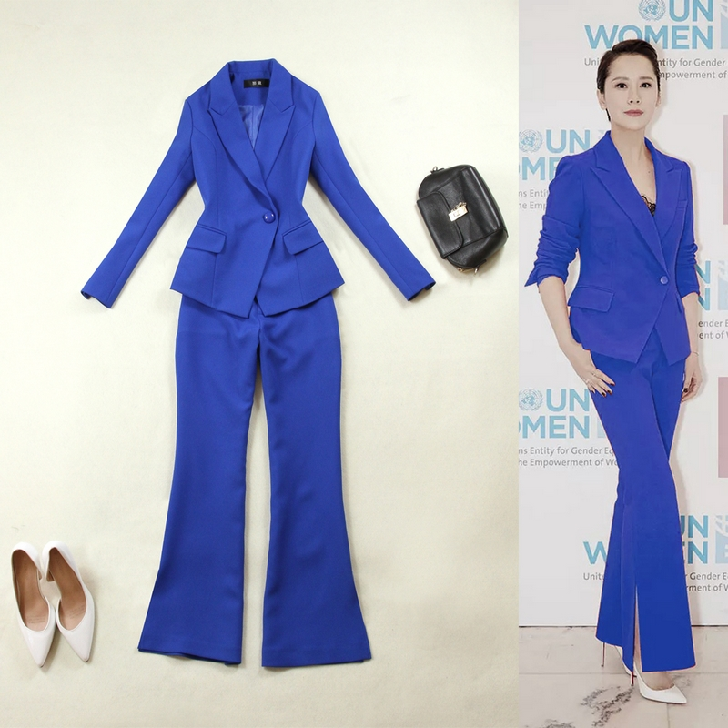 Women Pant Suits Female Suit Dress Notch Lapel Women S Business