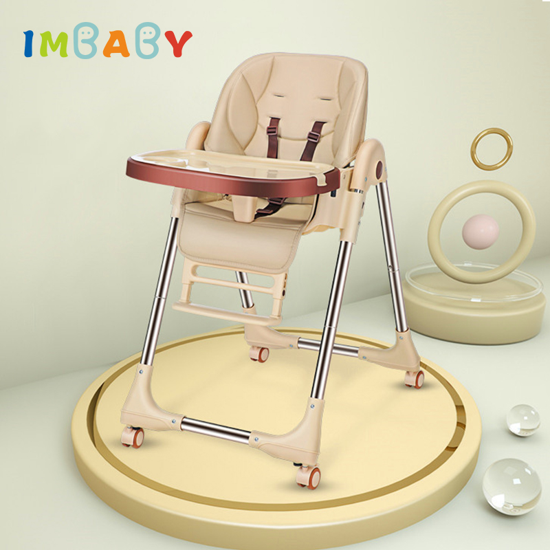 IMBABY Baby High Chair For Feeding Baby Chair With Four Wheels Breast Feeding Chair With Table