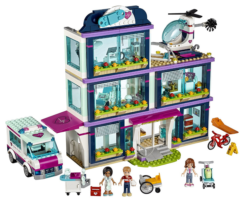 LEPIN Friends Series Heartlake Hospital Building Blocks Classic For Girl Kids Model Toys Marvel Compatible Legoe