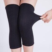 Турмалин черный колено Поддержка Brace рукава трикотажные Магнитная Здоровье и гигиена наколенники дальней инфракрасной теплый колено пояса для зимы