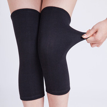 Tourmaline Black Knee Support Brace Sleeves Knitted Magnetic Health Care Knee Pads far infrared warm knee belt for winter