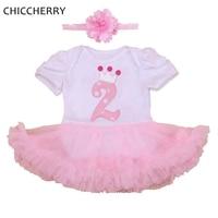 تاج 2 سنوات طفل اللباس الوردي طفلة فساتين عيد + العصابة الرضع الرباط توتو مجموعة conjuntos بيبي menina طفل الملابس