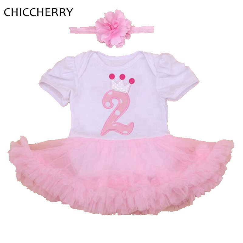Birthday Dress Toddler: Crown 2 Years Baby Birthday Dress Pink Baby Girl Dresses