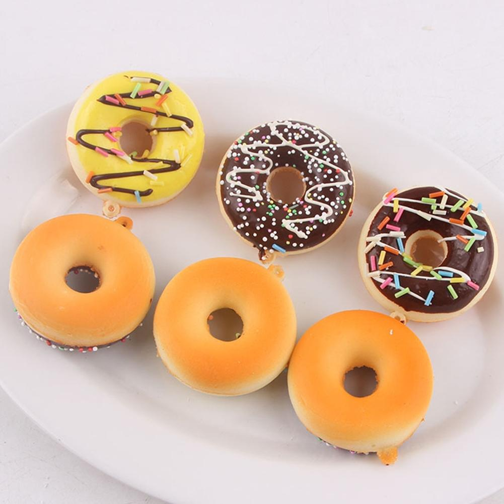 LeadingStar Colorful Simulation Donut Ornaments Cake Model Fun Toy Soft Decoration Kitchen Creative Christmas/New Year Gift Zk30