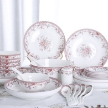 Bone china Guci  tableware dishes set test simple household fresh bowl gifts