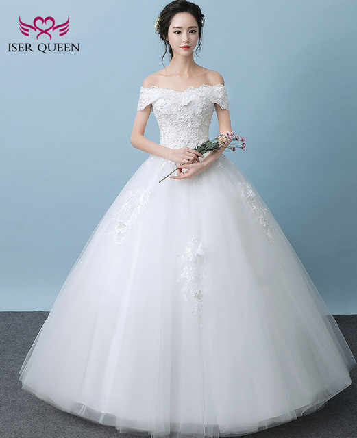 Sweetheart Short Cap Sleeves Simple Elegant Lace Wedding Dress Tulle ...