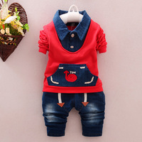 Children Suits Spring And Autumn Sets Cowboy Vest Fade Two Pieces Tide Boy Baby Clothing