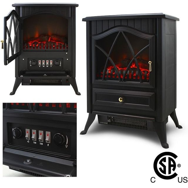 freistehende elektrische 1500 watt kamin heizung feuer. Black Bedroom Furniture Sets. Home Design Ideas