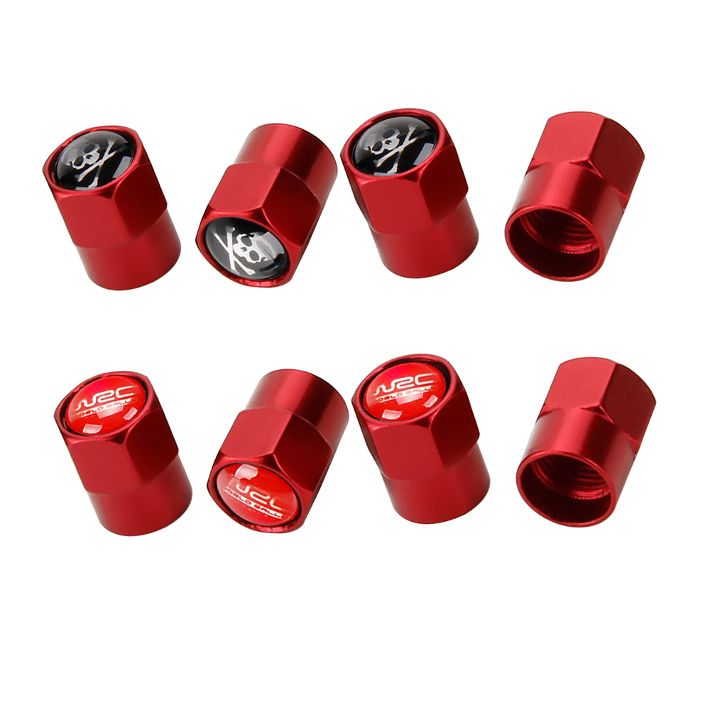 4PCS Sport Styling RED Tyre Valve Caps Accessories Tire Wheel Dust Cover Saab