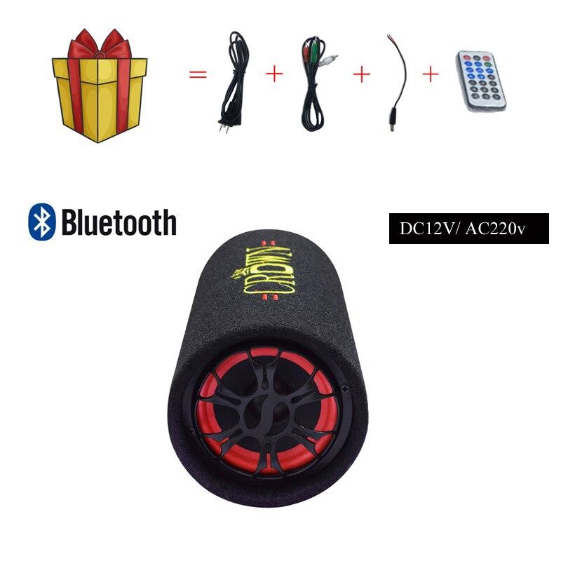 Freies Verschiffen Aktive Lautsprecher mit Bluetooth HiFi Stereo Audio Auto Leistungsstarke Subwoofer 200 W 5 Zoll DC12V AC220V Runde Typ lautsprecher