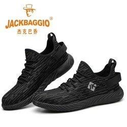Sapatas de segurança de trabalho masculinas/femininas, sapatas de caminhada antiderrapantes resistentes ao desgaste da moda, sapatos casuais respiráveis confortáveis