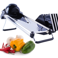 Mandoline Slicer Stainless Steel Vegetable Cutter with 5 Blades Potato Slicer Onion Cutter Carrot Grater Kitchen Accessories