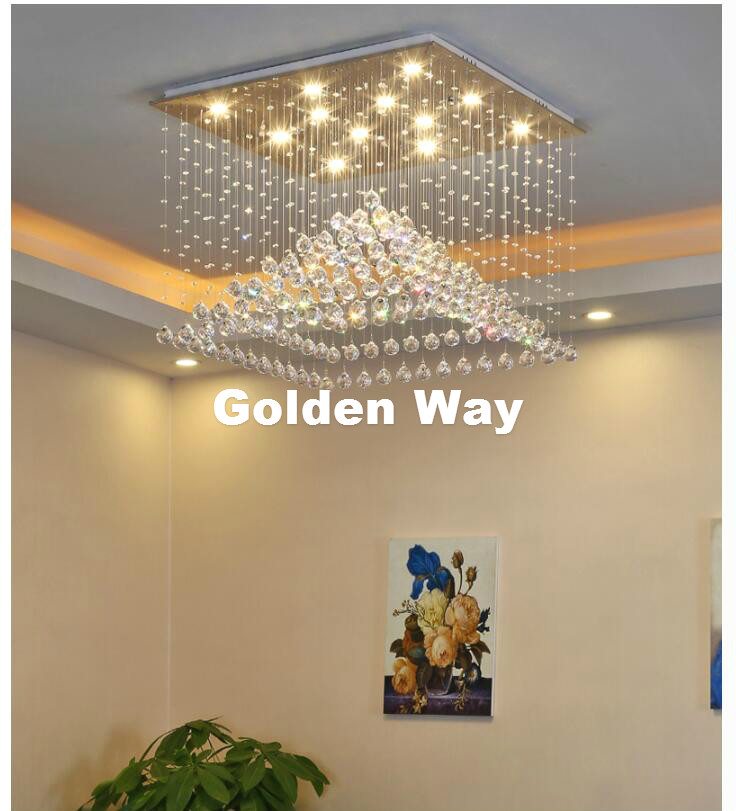 Free Shipping Crystal Ceiling Light For Living Room Indoor Lamp with Remote Controlled Luminaria Home Decoration Ceiling Lights