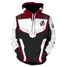 The Avengers 4 Endgame Quantum Realm Cosplay Costume Hoodies Men Hooded Avengers Zipper End Game Sweatshirt Jacket