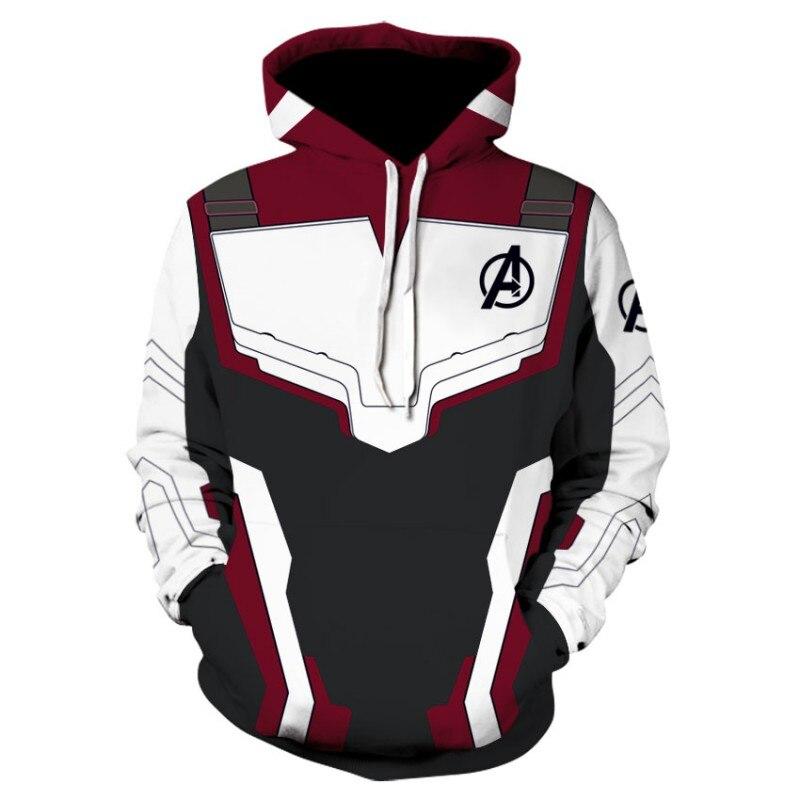 The Avengers 4 Endgame quantique royaume Cosplay Costume sweat à capuche pour homme à capuche Avengers fermeture éclair fin de jeu sweat veste