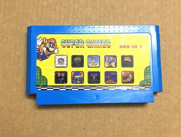 Real 360 en 1 cartucho de juego No repetir 8 poco FC60Pins clásica tarjeta de juego
