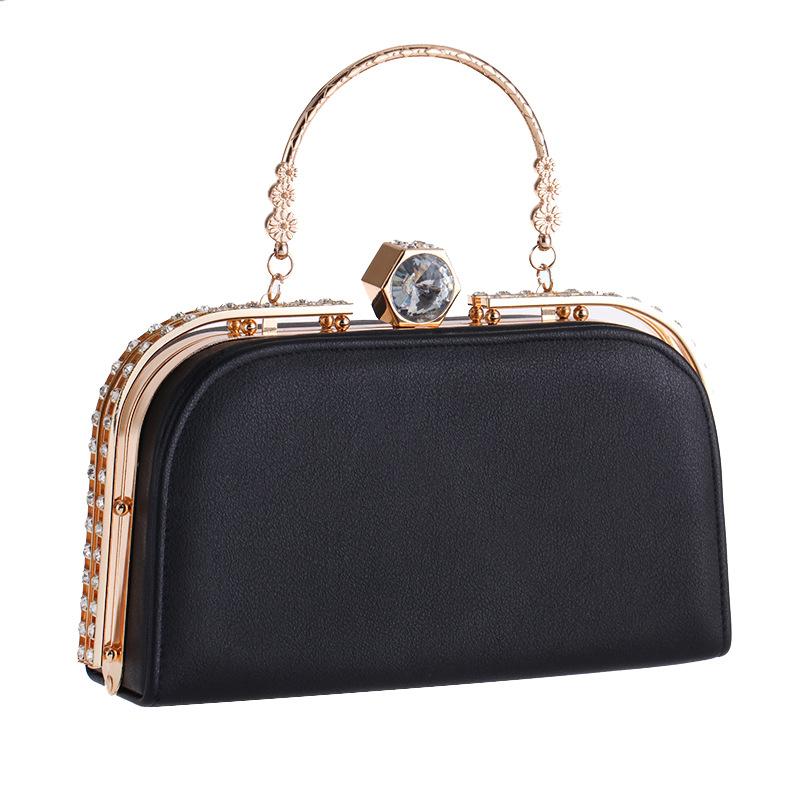 5da6c3df88cf longmiao New Crystal Diamond Clasp Ladies Messenger Bags Girls Glitter  Evening Bags Day clutch Party Purse Woman Wedding Handbag