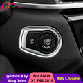 1 Piece ABS Chrome Car Ignition Key Protection Ring Trim Star Stop Enginer Key Sticker For BMW X1 F48 2016 2017 Accessories