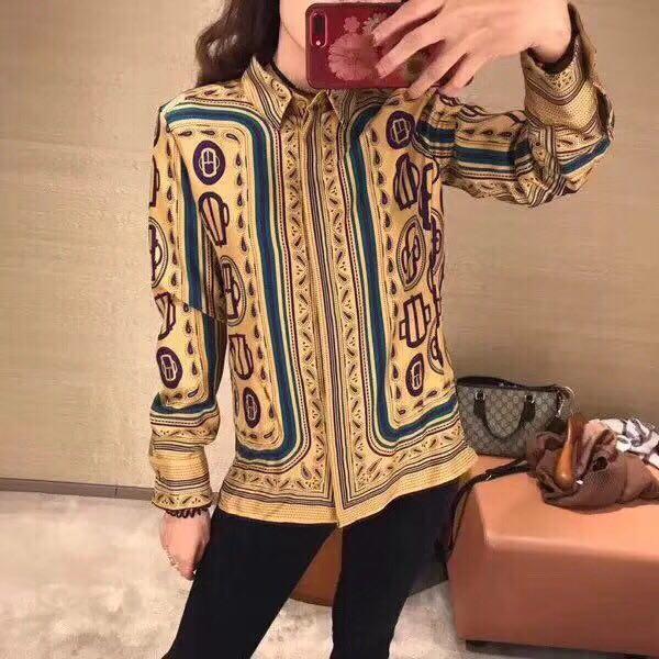 BH05715 Модные женские блузки и рубашки 2019 для подиума роскошный известный бренд Европейский дизайн вечерние Стиль Женская одежда