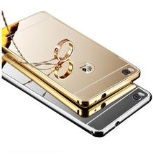 1x Luxury Metal Aluminum Frame + Mirror Acrylic Back Case For Huawei P8 P9 Lite Honor 6 Plus Honor 4X 4C Honor 7 7i Phone Cases