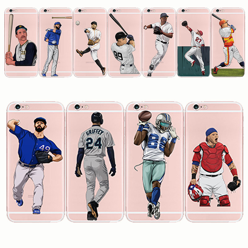 baseball pattern design mobile cover soft transparent tpu silicone cell phone case for iPhone 5 5S