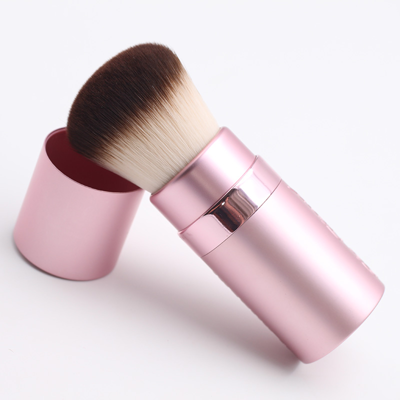 New Arrival Pink cylinder portable telescopic Blush Brush Makeup Brushes 2017 new 38mm cylinder