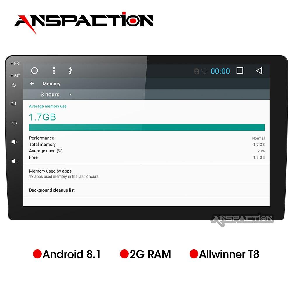 10.1 polegada 2G android 8.1 navegação do carro dvd gps radio video player multimídia carro rádio estéreo universal universal 1 din