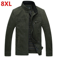Big Plus Size Jacket 8XL 7XL Jacket In The Man Jacket Male And Fat Increase The