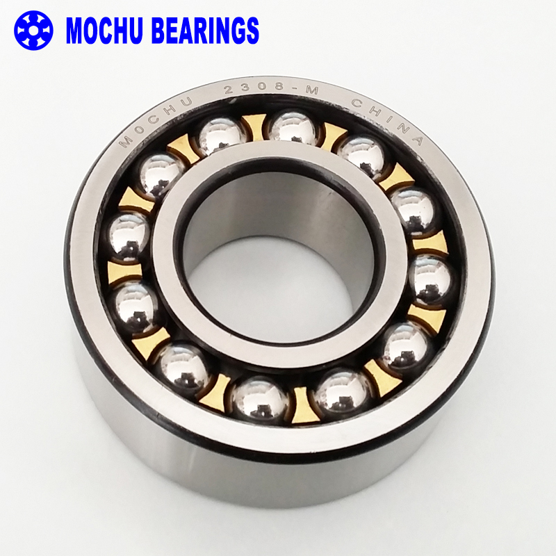 1pcs 2308-M 40x90x33 2308 2308M MOCHU Self-aligning Ball Bearings Cylindrical Bore Double Row High Quality