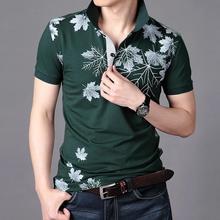 2016 sommer neue mode gedruckt männer polo shirt kurzarm baumwolle polo homme hohe qualität atmungsaktive casual männer hemd mc144