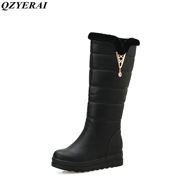 QZYERAI Inverno neve stivali di pelliccia caldo scarpe da donna e stivali  impermeabili stivali invernali di