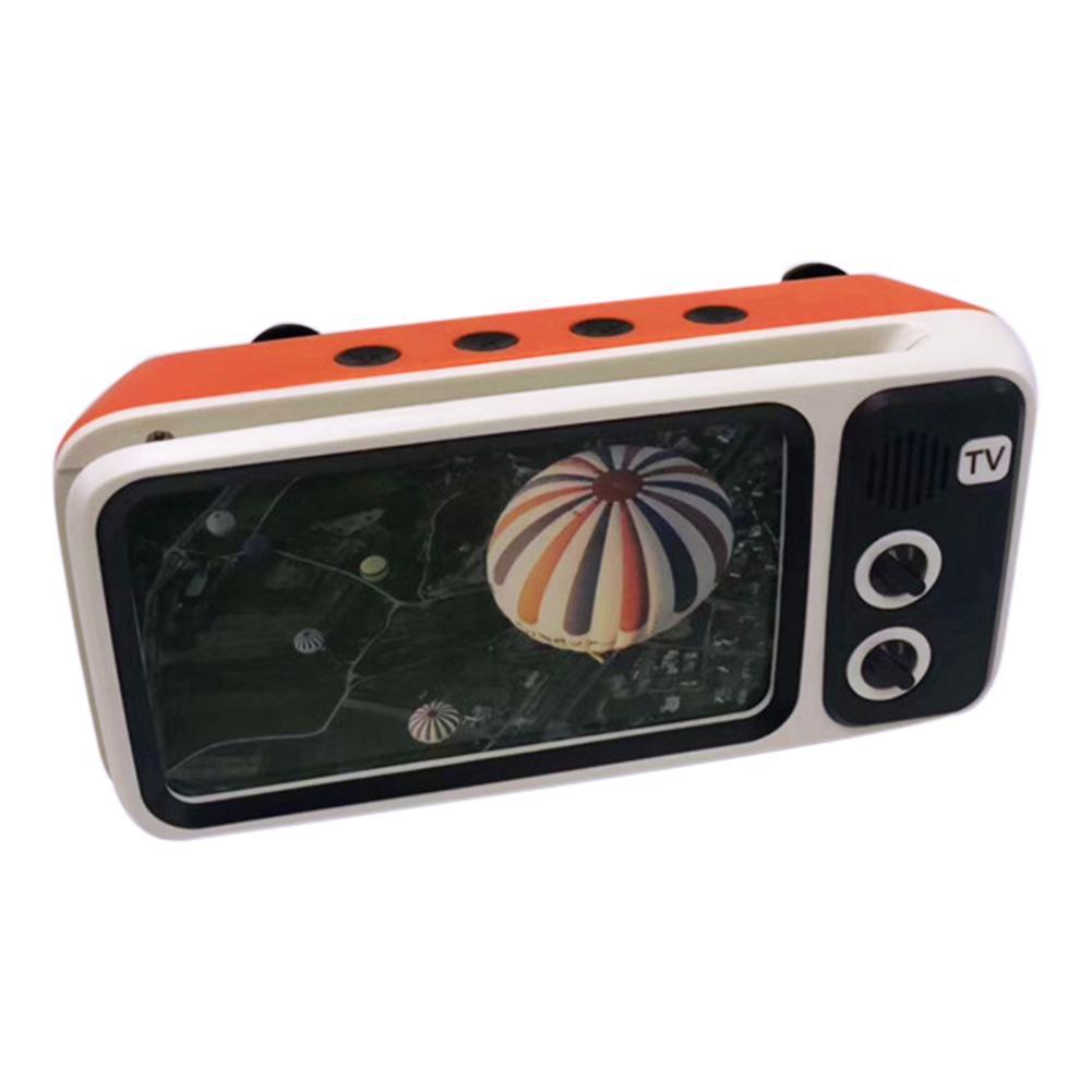 SHOOT PTH800 Retro TV Mini Portable Wireless Bluetooth Super Bass Speaker Phone Holder