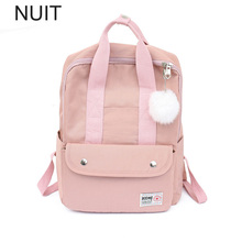 цены Korean Girl bagpack Women Backpack Fashion Solid School Bags For Teenager Canvas Tassel Large Capacity Casual Women Backpacks