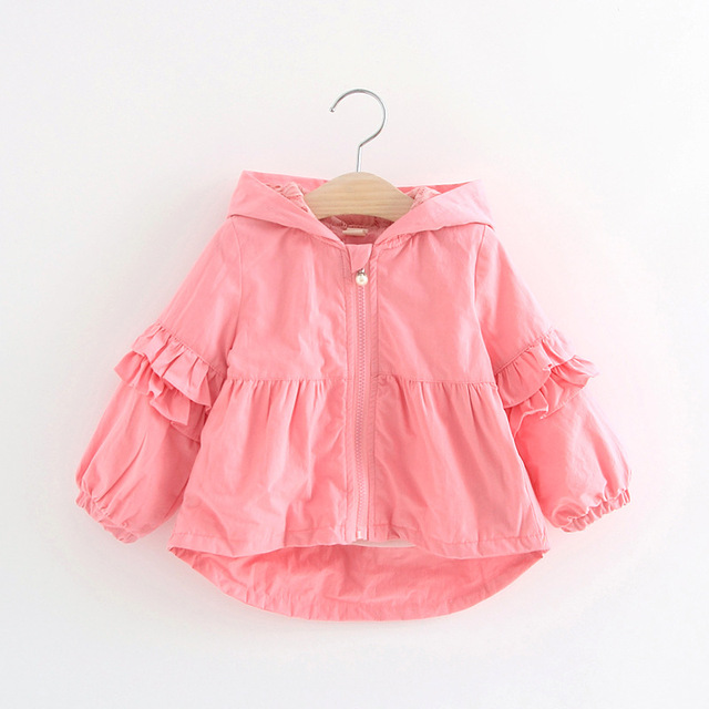 63047531067e Hooded Solid Baby Girl Outerwear 1 3Y Toddler Girl Hoodies Kids ...