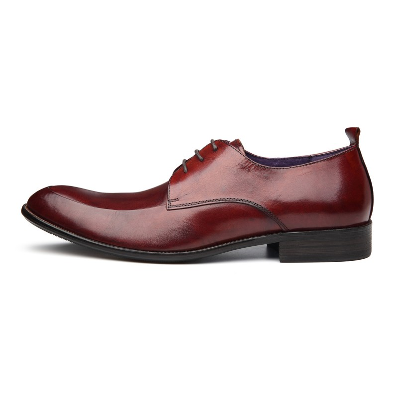 34ec79980135 Pointed Toe Mens Footwear Autumn New Fashion Genuine Leather Male Wedding  Shoes British Lace Up Sapatos. sku  32826564355