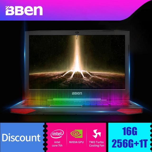 """Bben G17 17.3"""" Win10 Intel I7 Laptop gaming computer I7 7700HQ Processor NVIDIA GTX1060 6GB DDR5"""