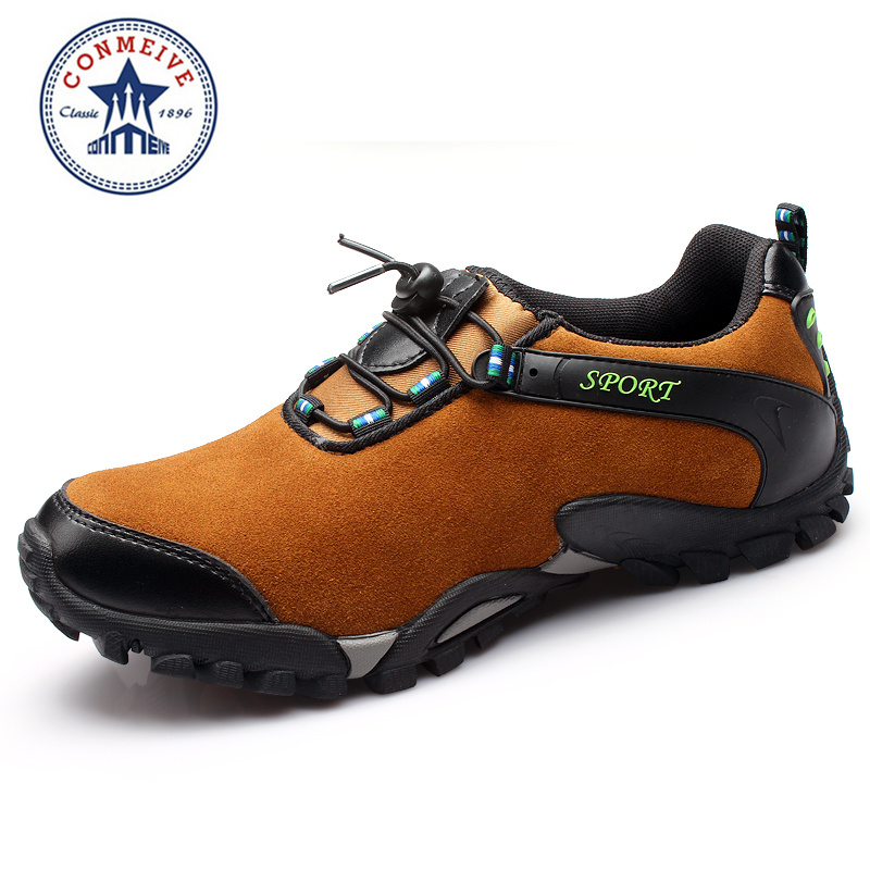 2016 Rushed Medium(b,m) Leather Boots Men Outdoor Hiking Professional Breathable New Design Climbing Shoes Brand Sports sale outdoor sport boots hiking shoes for men brand mens the walking boot climbing botas breathable lace up medium b m