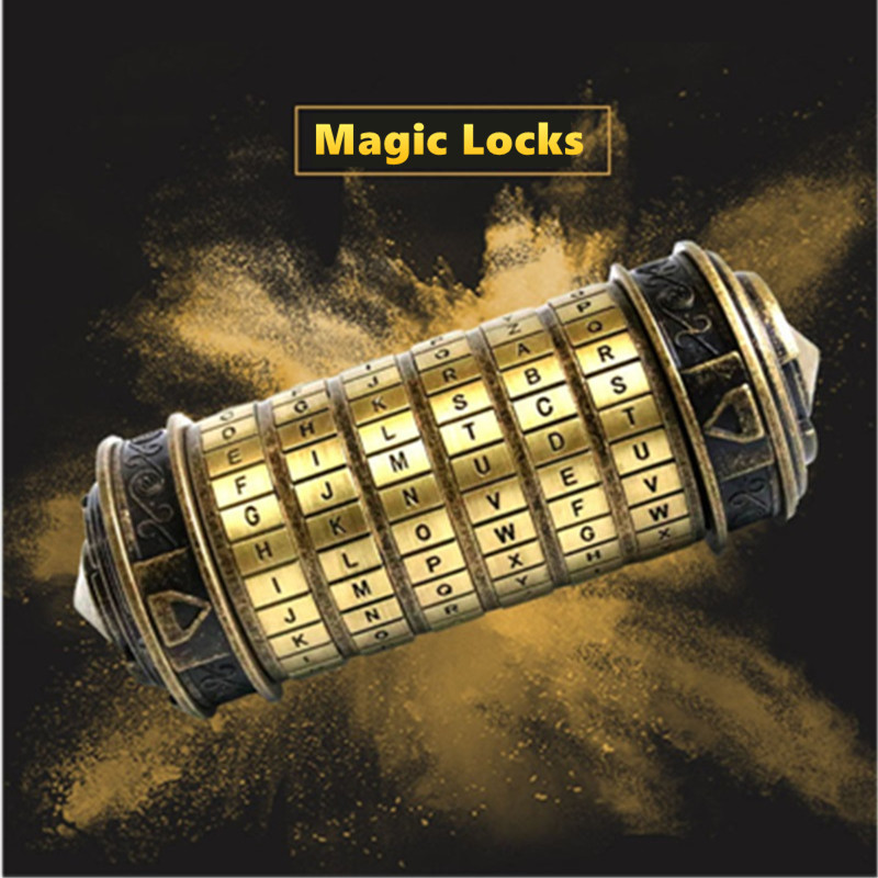 Metal Magic Educational Toys Cryptex Locks Gift Da Vinci Code Lock To Marry Lover Building Blocks Set Assemble Toy For Kids