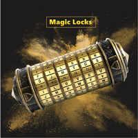 Metal brinquedos educativos mágicos cryptex fechaduras presente da vinci código bloqueio para casar amante blocos de construção conjunto montar brinquedo para crianças