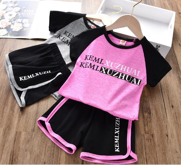 Children's Clothing T-Shirt Shorts Two-Piece Summer of The Korean-Version Casual New