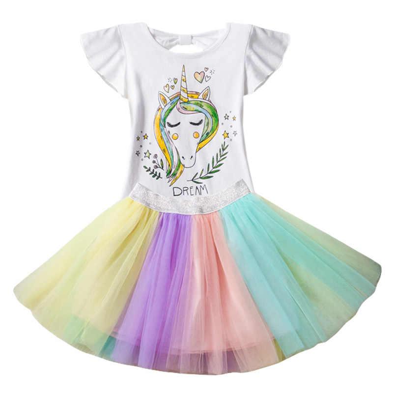 Детская одежда 2019 г. летняя одежда для маленьких девочек детская одежда с единорогом моаной спортивный костюм для девочек, комплекты одежды для детей 3, 4, 5, 6, 7, 8 лет