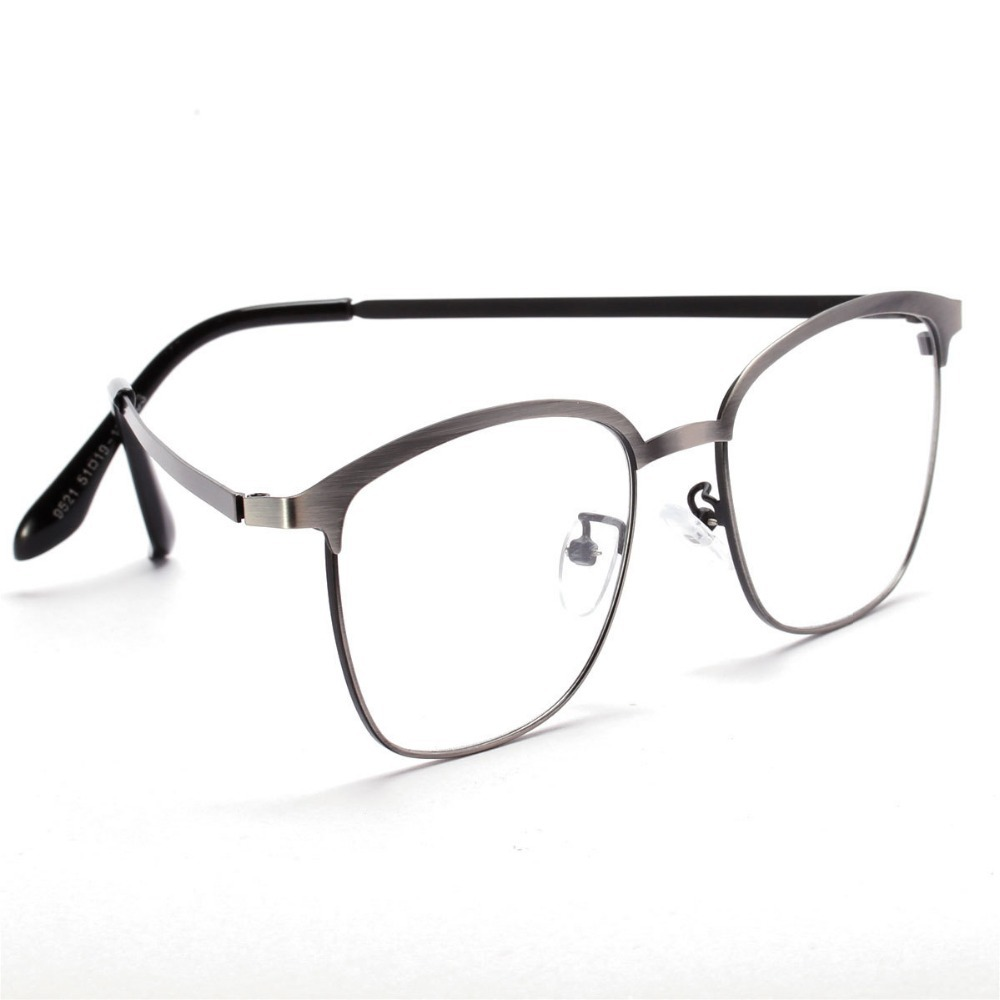 new high fashion brand metal square eyeglasses frame vintage clear glasses retro optical glasses frame eyewear