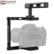 CAMVATE Aluminum Alloy Camera Generic Cage Rig With Top Handle For DSLR Camera Stable Support System Photography Accessories New