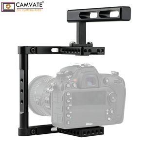 Image 1 - CAMVATE Aluminum Alloy Camera Generic Cage Rig With Top Handle For DSLR Camera Stable Support System Photography Accessories New