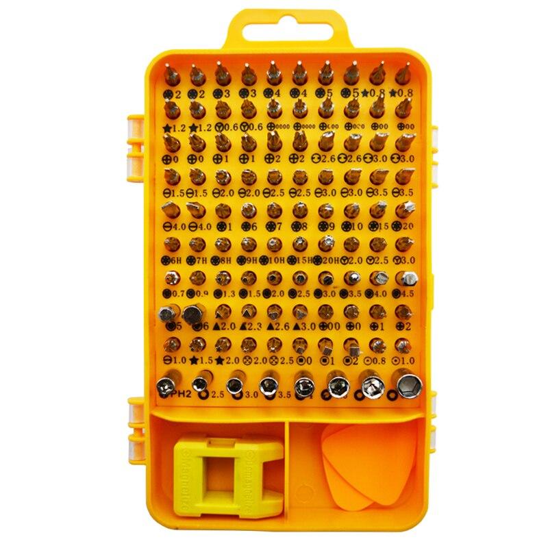 108 en 1 sets destornillador Multi; función computadora teléfono móvil Digital reparación electrónica herramientas destornillador