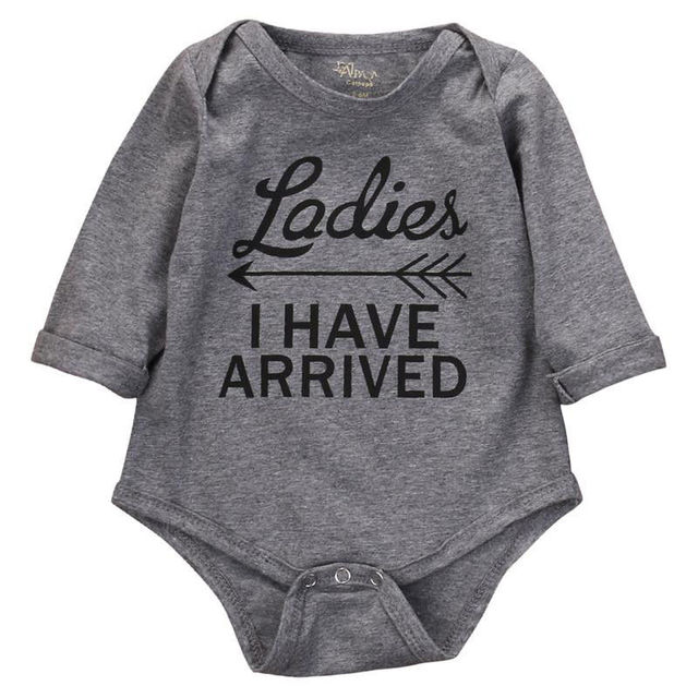 19cccde8190 Cotton Newborn Baby Girl Boy Clothes Long Sleeve letter Romper Jumpsuit  Playsuit Outfits
