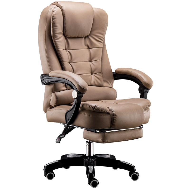 Cowhide Office Chair Modern Simple Home Lifting Swivel Computer Chair With Massage Function Gaming Chair Silla Oficina